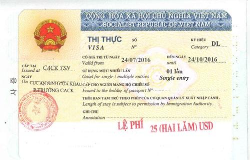 Vietnam visa online for Guam passport holders